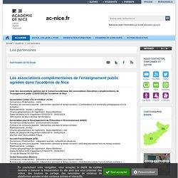 Les associations complémentaires de l'enseignement public agréées dans l'académie de Nice