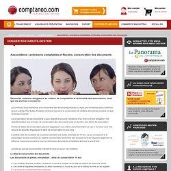 Associations : précisions comptables et fiscales, conservation des documents