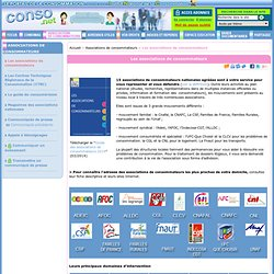 Associations de consommateurs - Les associations de consommateurs