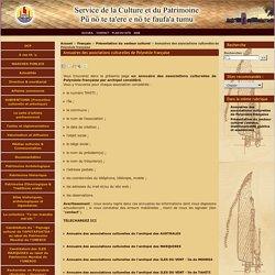 Annuaires des associations culturelles de Polynésie française - Annuaires des associations culturelles de Polynésie française