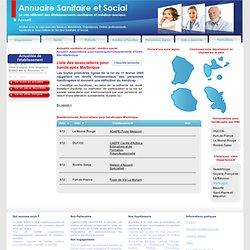 Associations pour handicapés Départements d'Outre-Mer Martinique