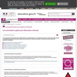 Les associations agréées par l'Éducation nationale