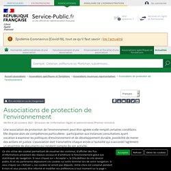 Associations de protection de l'environnement - associations