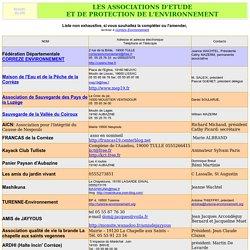 liste des associations de protection de l'environnement