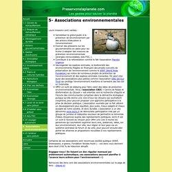 Les associations environnementales : WWF, Greenpeace, Fondation Nicolas Hulot