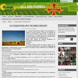Les associations anti-éoliennes dérivent