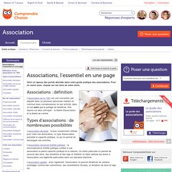 Associations : l'essentiel sur les associations en une page