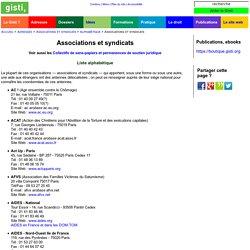 Associations et syndicats