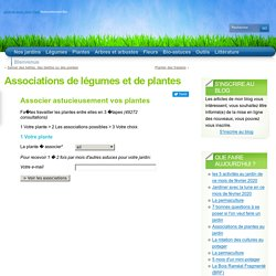 Associations de légumes et de plantes « Associations Favorables « Bio-Astuces