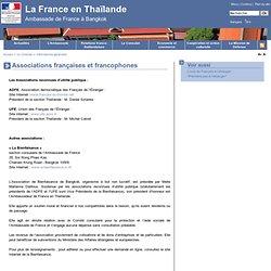 Associations françaises et francophones - Ambassade de France en Thaïlande