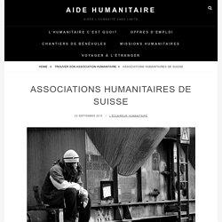 Associations humanitaires de Suisse – Aide Humanitaire