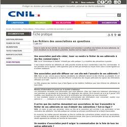 Les fichiers des associations en questions - CNIL - Commission nationale de l'informatique et des libertés