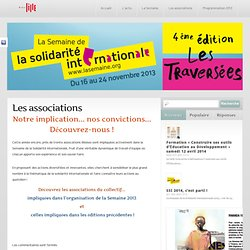 Les associations « SSI-lille - Le Blog de la Semaine de la Solidarité Internationale à Lille