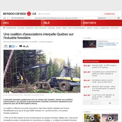 Une coalition d'associations interpelle Québec sur l'industrie forestière