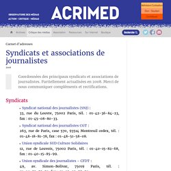 ACRIMED - Syndicats et associations de journalistes