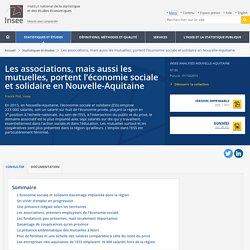 Les associations, mais aussi les mutuelles, portent l'économie sociale et solidaire en Nouvelle-Aquitaine - Insee Analyses Nouvelle-Aquitaine - 80