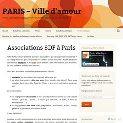 Associations SDF à Paris