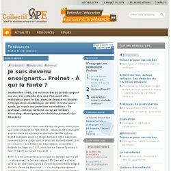 S'engager en pédagogie Freinet