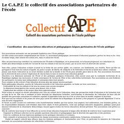 Le C.A.P.E le collectif des associations partenaires de l'école