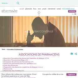 pharma.be - Associations de pharmaciens