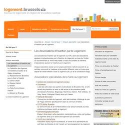 Les Associations d'Insertion par le Logement — Portail Logement - Portaalsite Huisvesting