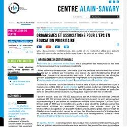 Organismes et associations pour l'EPS en éducation prioritaire