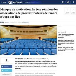 Manque de motivation, la 1ere réunion des associations de procrastinateurs de France n'aura pas lieu