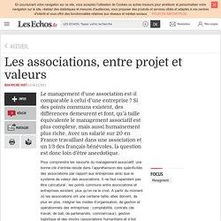Les associations, entre projet et valeurs