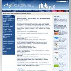 UNAF-Aider les aidants: 16 associations pour la reconnaissance des aidants familiaux