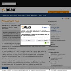 Build Your E-Learning Business Model - Associations Now Magazine