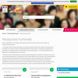 Les associations et la gestion des ressources humaines