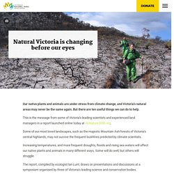 Natural Victoria is changing before our eyes - Victorian National Parks AssociationVictorian National Parks Association