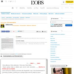 Vie associative : Vie associative : Adhérents : Bénévolat - Bénévolat - ABC-Lettres par l'Obs