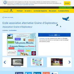 Ecole associative alternative Graine d'Explorateur