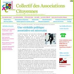 Une véritable politique associative est nécessaire - Collectif des Associations Citoyennes