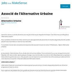 Associé de l'Alternative Urbaine