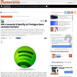 SFR s'associe à Spotify et l'intègre dans certains forfaits