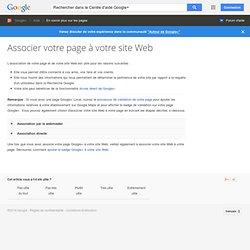 Association à votre site Web - Centre d'aide Google+
