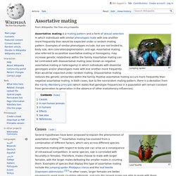 Assortative mating - Wikipedia