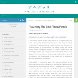 Assuming The Best About People