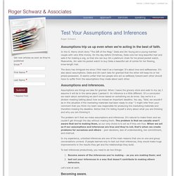 Test Your Assumptions and Inferences - Roger Schwarz & Associates, Inc.