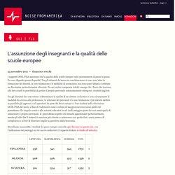 L'assunzione degli insegnanti e la qualità delle scuole europee