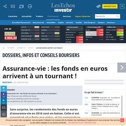 Assurance-vie : les fonds en euros arrivent à un tournant! - Investir-Les Echos Bourse