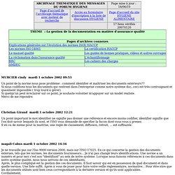 L'assurance qualité - La gestion de la documentation en matière d'assurance qualité