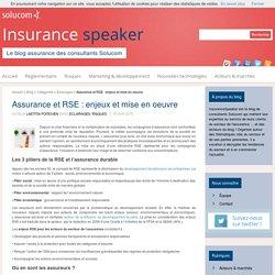 Assurance et RSE : enjeux et mise en oeuvre - InsuranceSpeaker