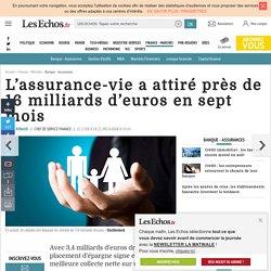 L'assurance-vie a attiré près de 16 milliards d'euros en sept mois, Banque - Assurances