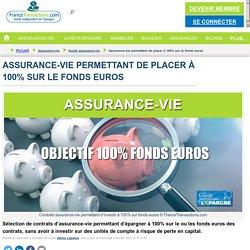 Assurance-vie permettant de placer à 100% sur le fonds euros : Guide assurance-vie