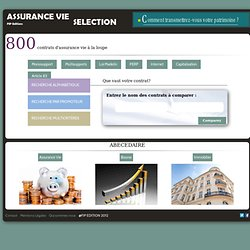 ASSURANCE VIE SELECTION - FIP EDITIONS
