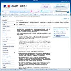 Ce qui change avec la loi Hamon: assurances, garanties, démarchage, action de groupe,...