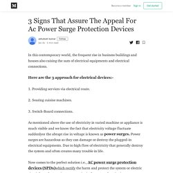 3 Signs That Assure The Appeal For Ac Power Surge Protection Devices